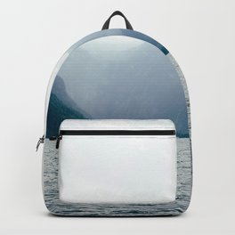 Misty Lake in the Alps Backpack
