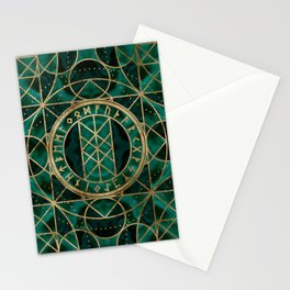 Web of Wyrd The Matrix of Fate - Gold and Malachite Stationery Cards