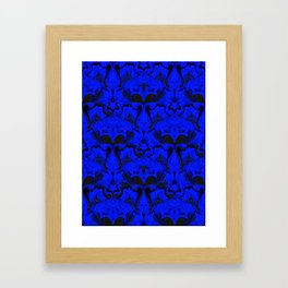 Creatures from the Blue Regal Abstract digital textured pattern Framed Art Print
