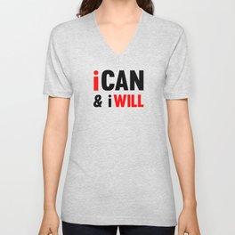 I Can And I Will Unisex V-Neck