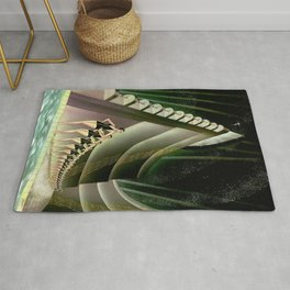 'We Came Here to Shine' - Billy Rose's Acquacade Art Deco 1920's Theatrical Portrait Rug