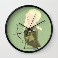 legolas Wall Clocks featuring Legolas by Rod Perich