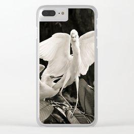 White bird dance 1 Clear iPhone Case