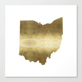 ohio gold foil state map Canvas Print