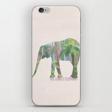 The Lonely Elephant iPhone & iPod Skin