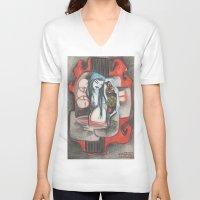 cross V-neck T-shirts featuring cross by sabrina.gennari