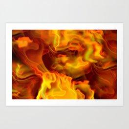 hot space Art Print