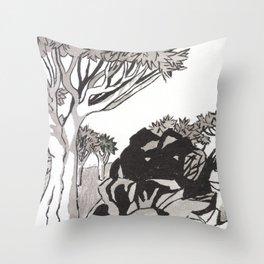 Quiver Tree & Rocks - Namibia Throw Pillow