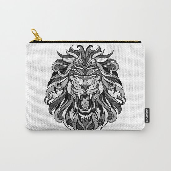 Angry Lion - Drawing Carry-All Pouch