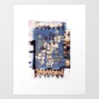 kilim Art Prints featuring Burnt Kilim by BINSUBU