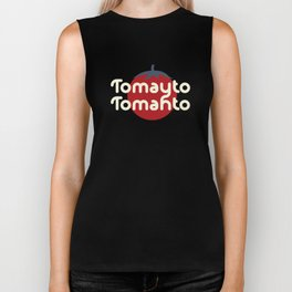 How do you say tomato? Cute Funny Accent Graphic Art Biker Tank