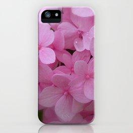 Pink Hydrangea - Flower Photography iPhone Case