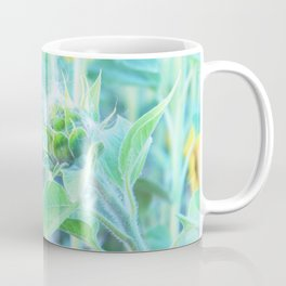 sunflower - turquoise Coffee Mug