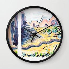X voYages de Zed (toile 10 - série 1) Wall Clock
