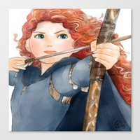 merida Canvas Prints featuring Merida  by Teddy Wade