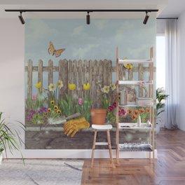 Spring Gardening Wall Mural