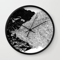 nick cave Wall Clocks featuring Cave by Virginia Kraljevic
