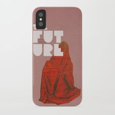 The future a time to reminisce. (mixed media) Slim Case iPhone X