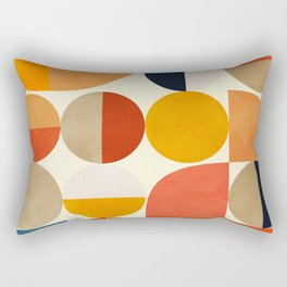 geometric abstract shapes autumn Rectangular Pillow