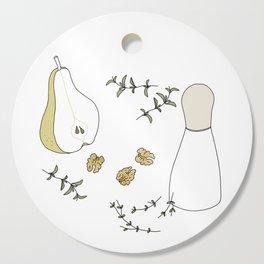 Pear Salad (Illustrated Recipe) Cutting Board