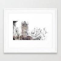 london Framed Art Prints featuring London by Nicolas Jolly