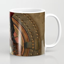 Steampunk women with hat Coffee Mug