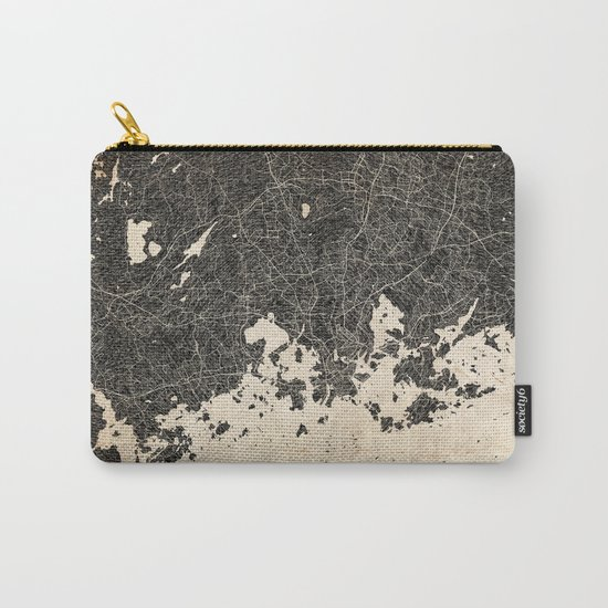 helsinki map ink lines 2 Carry-All Pouch