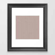 Knitted spring colors - Pantone Pale Dogwood Framed Art Print