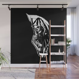 MAKE THIS OCTOBER AND HALLOWEEN A SCREAM WITH THE GRIM REAPER Wall Mural