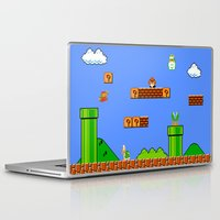 mario bros Laptop & iPad Skins featuring Mario by idaspark