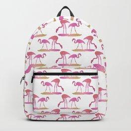 Sunset Flamingos Backpack