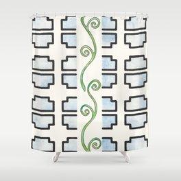 Vine and Trellis Shower Curtain