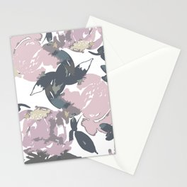 Muted Floral Pattern Stationery Cards