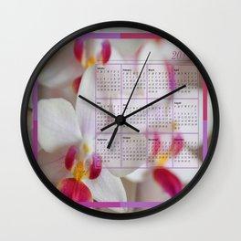 Calendar 2015 Orchids Wall Clock