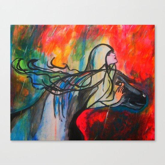 Chasing The Rain Canvas Print
