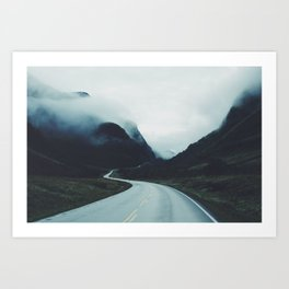 Dark road Art Print