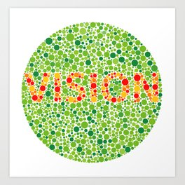 Colour Blindness Vision Art Print