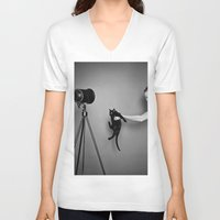 oz V-neck T-shirts featuring Oz by Emily Mislak