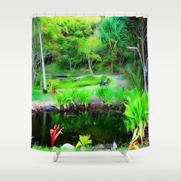 Kahana Bay H ... By LadyShalene Shower Curtain