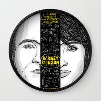 himym Wall Clocks featuring Barney Stinson Playbook (Silver Linings Playbook + HIMYM) by HuckBlade
