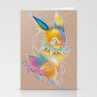 lightning Stationery Cards featuring Lightning by Reid