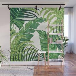 Green tropical leaves II Wall Mural