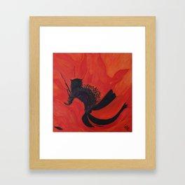 Dancing Poppy Framed Art Print