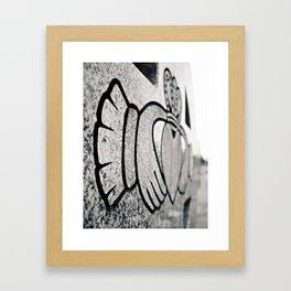 Cemetery claddagh Framed Art Print