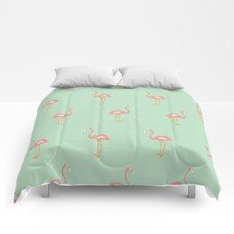 Flamingo Mint Pattern 009 Comforters