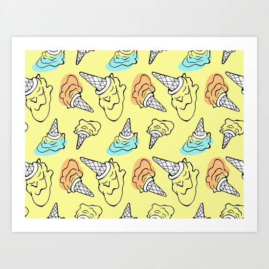 Pop Ice Cream Art Print
