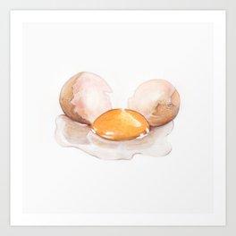 Color pencil Egg Art Print