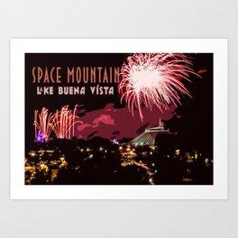 Fireworks Over Lake Buena Vista Art Print