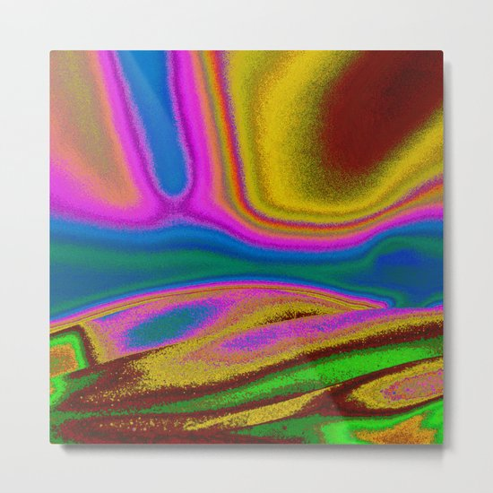 Colorful Curves Metal Print