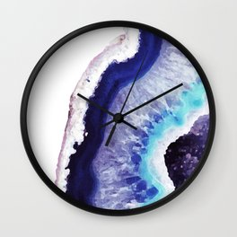 Violet Agate Art 1 Wall Clock
